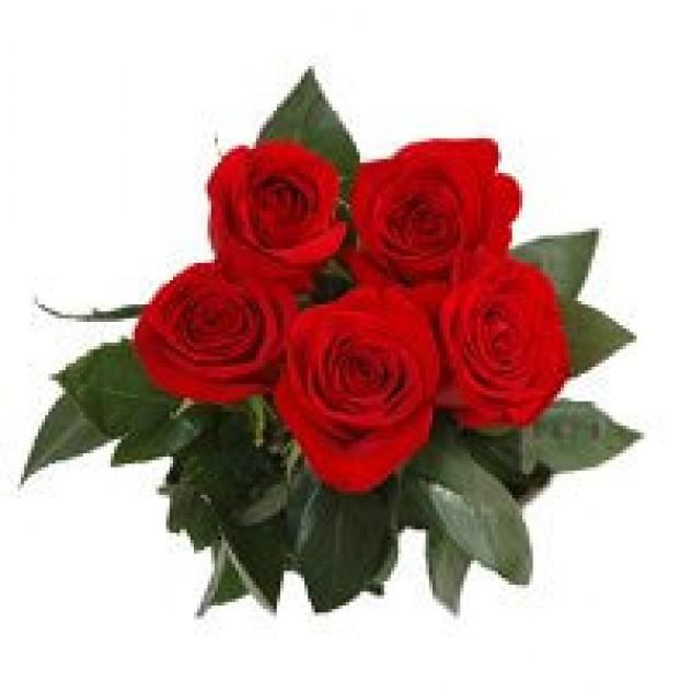 Букет пять очаровательных  роз